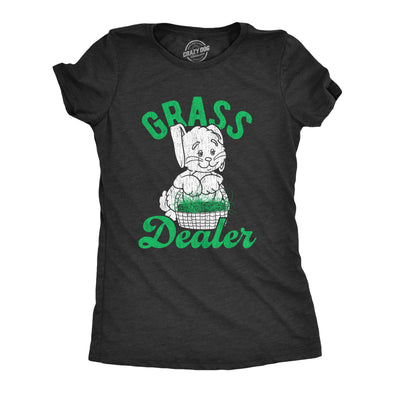 Womens Grass Dealer Tshirt Funny Easter Bunny Basket Holdiay Novelty Tee