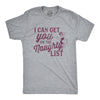 Mens I Can Get You On The Naughty List Tshirt Funny Santa Christmas Graphic Tee