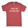 Mens I Need An Alcoholiday Tshirt Funny Festive Christmas Drinking Party Graphic Novelty Tee