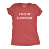 Womens I Need An Alcoholiday Tshirt Funny Festive Christmas Drinking Party Graphic Novelty Tee