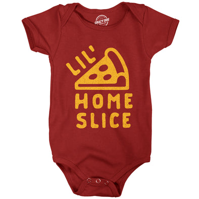 Baby Bodysuit Lil Home Slice Tshirt Funny Pizza Pie Younger Sibling Family Creeper