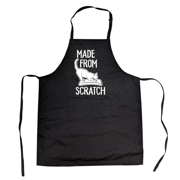 Cookout Apron Made From Scratch Baking Smock Funny Pet Cat Lover Apron