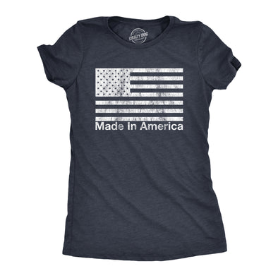 Womens Made In America Tshirt Funny 4th of July Independence Day Party Graphic Tee