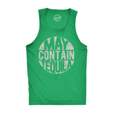 Mens Fitness Tank May Contain Tequila Tanktop Funny Cinco De Mayo Tequila Drinking Sleeveless