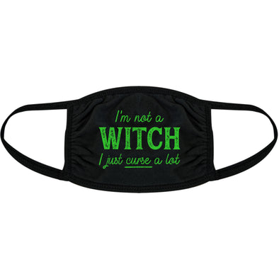 I'm Not A Witch I Just Curse A Lot Face Mask Funny Halloween Graphic Nose And Mouth Covering