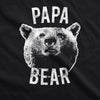 Papa Bear Face Mask Funny Father's Day Forest Grizzly Graphic Nose And Mouth Covering