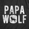 Mens Papa Wolf Tshirt Funny Camping Pack Fathers Day Graphic Novelty Tee