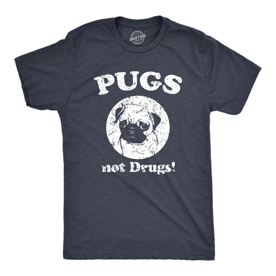 Pugs Not Drugs Men's Tshirt