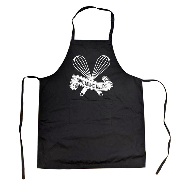 Cookout Apron Swearing Helps Cooking Grilling Baking Kitchen Chef gift for Mom