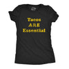 Womens Tacos Are Essential Tshirt Funny Cinco De Mayo Taco Tuesday Novelty Tee