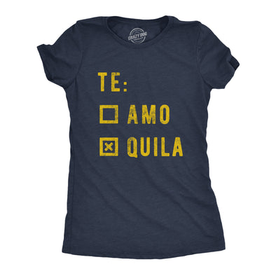 Womens Te amo Tequila Tshirt Funny Cinco De Mayo Taco Tuesday Margarita Graphic Tee
