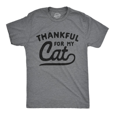 Thankful For My Cat Men's Tshirt