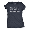 Womens There's No Such Thing As Too Many Cats Tshirt Funny Pet Kitty Animal Lover Graphic Tee