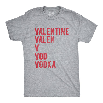 Valentines Day Vodka Men's Tshirt