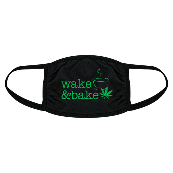 Wake And Bake Face Mask Funny Coffee 420 Marijuana Novelty Nose And Mouth Covering