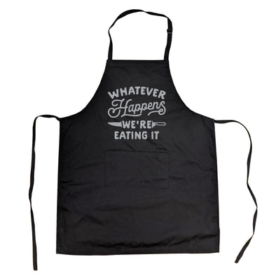 Cookout Apron Whatever Happens Were Eating It Grilling Baking Kitchen Chef Gift