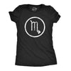 Womens Zodiac Scorpio T Shirt Astrology Gift Horoscope Birthday Star Sign