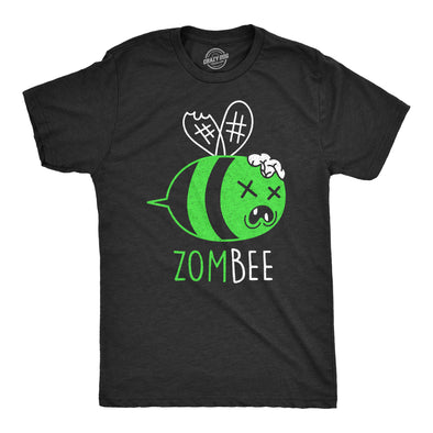 Mens Zombee Tshirt Funny Zombie Halloween Bumble Bee Novelty Graphic Tee