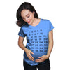 Maternity Calendar Countdown Pregnancy Tee Mark Off Baby Announcment Tshirt