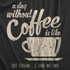 A Day Without Coffee Is Like Just Kidding I Have No Idea Women's Tshirt