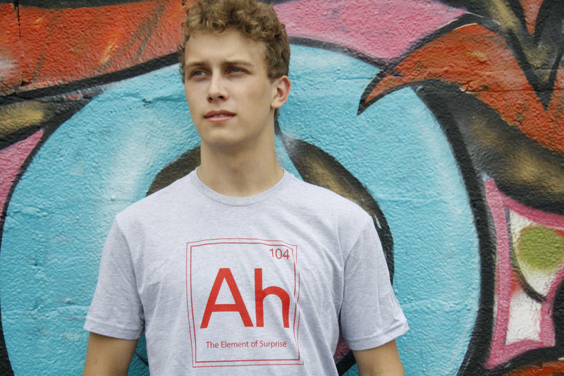 Ah! The Element Of Surprise T Shirt Funny Sarcastic Science Periodic Table Tee