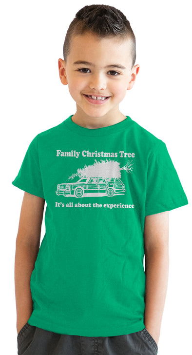 Youth Family Christmas Tree T Shirt Funny Gift for Kids Hilarious Cool Top