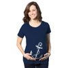 Maternity Anchor Baby Bump Nautical Pregnancy Annoucement Shower Gift T shirt