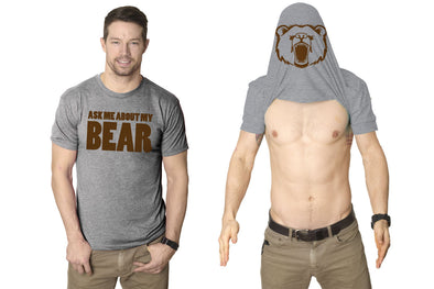 Ask Me About My Angry Bear T Shirt Funny Bear Flip Shirt Bears Flipover Tee