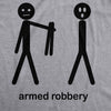 Armed Robbery Stick Figure Men's Tshirt