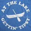 Womens At The Lake Gettin' Tipsy Funny Shirts Hilarious Canoe Vintage Novelty T shirt