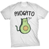 Mens Avogato Funny T shirts Avocado Cat Tee Cute Cat Face Shirt Novelty T shirt