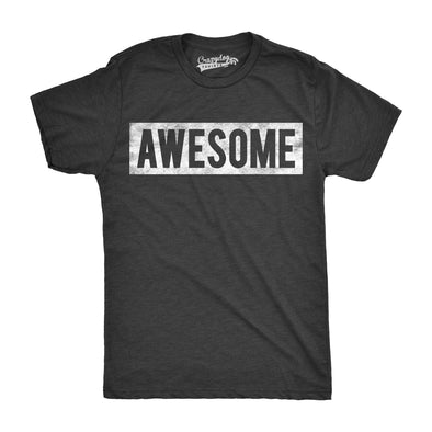 Mens Vintage Awesome Funny Everything Is Awesome Cool Bragging T shirt