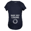 Maternity Baby Boy Loading Funny Nerdy Pregnancy Announcement T shirt