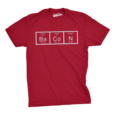 Youth Bacon Chemistry T-Shirt Funny Science Preiodic Table Tee for Kids