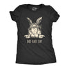 Womens Bad Hare Day T Shirt Funny Easter Hair Bunny Humor Joke Novelty Girls Tee
