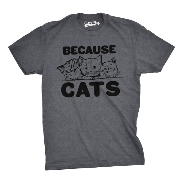 Because Cats Men's Tshirt