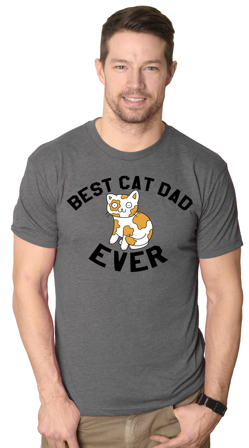 Mens Best Cat Dad Ever Cat Face T shirt Funny Cats T shirts Humor Crazy Tees