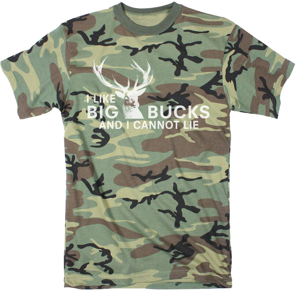 Mens I Like Big Bucks and I Cannot Lie Funny Deer Hunting T shirts for Men