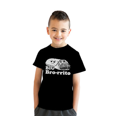 Youth Big Bro-rrito Tshirt Funny Brother Cinco De Mayo Tee For Kids