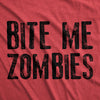 Bite Me Zombies Men's Tshirt