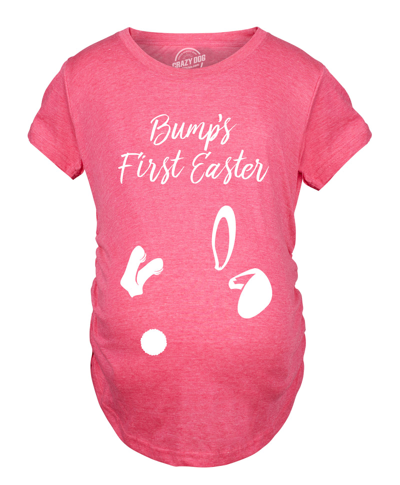 Maternity Bumps First Easter Tshirt Adorable Pregnancy Pastel Bunny Tee