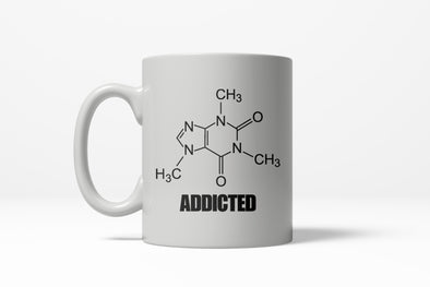 Caffeine Addicted Funny Nerdy Science Ceramic Coffee Drinking Mug 11oz Cup