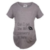 Womens Can I Get The Wifi Password In Here Maternity T Shirt Funny Pregnancy Tee