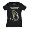 Womens The Catus Minorus Constellation Glow In The Dark T Shirt Funny Cats Tee