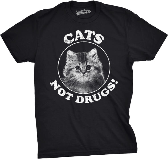 Cats Not Drugs Men's Tshirt