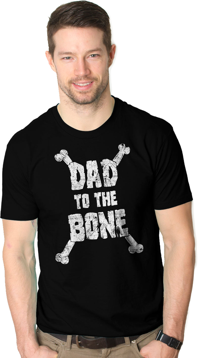 Mens Dad To The Bone Funny Music Parody Fathers Day T Shirt Cool Gift Idea