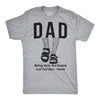 Mens Dad Socks and Sandals Funny Father's Day T Shirt Hilarious Gift Tee