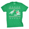 T-Rex Dinosaur Snack Ugly Christmas Sweater Men's Tshirt