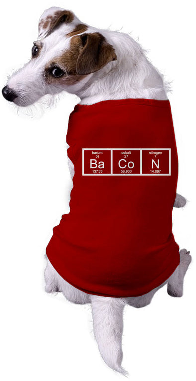 Dog Chemistry of Bacon Funny Nerdy Scientfic Animal Dog Shirt