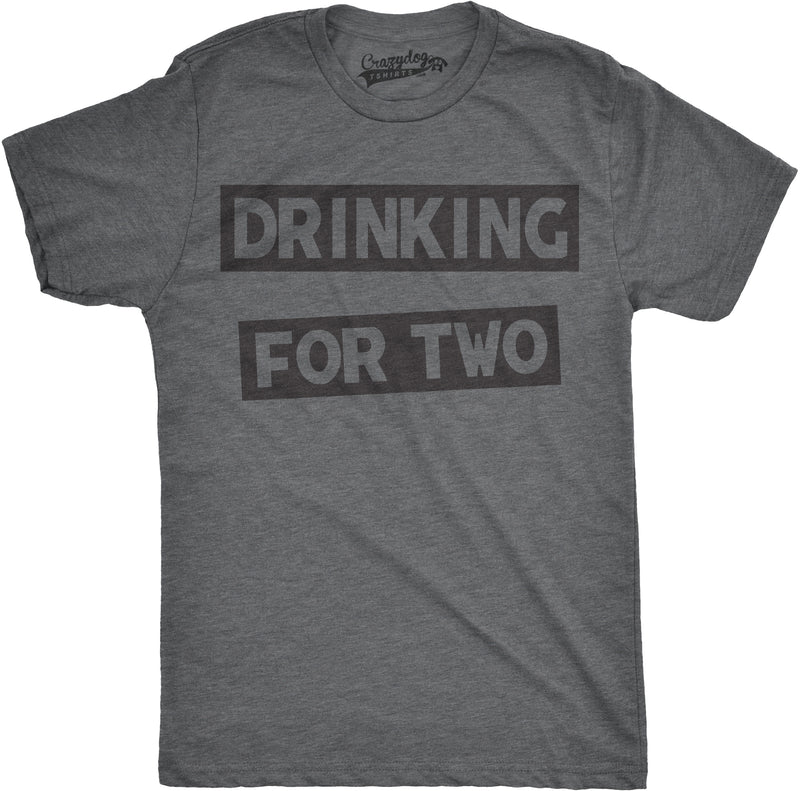Mens Drinking For Two Tshirt Funny Partying Drinking Beer Alchohol Tee